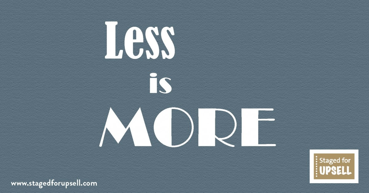 less is more when selling your home
