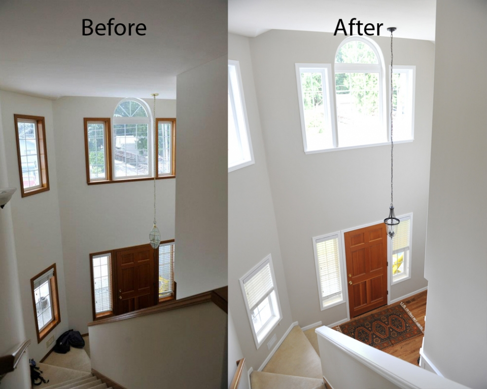 Painting hints painting window and door frames for How to paint wood windows interior