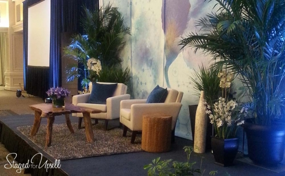 Event design services and event staging services for ACOG conference  - client request was Ellen Degeneres set design within smaller space
