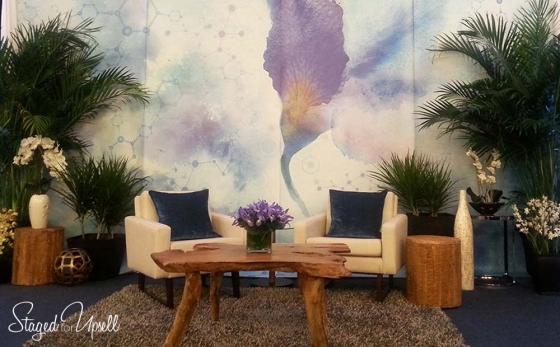 Ellen Degeneres talk show style set design for medical conference