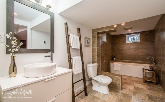 Home staging porfolio staged for upsell - Staging a bathroom to sell ...