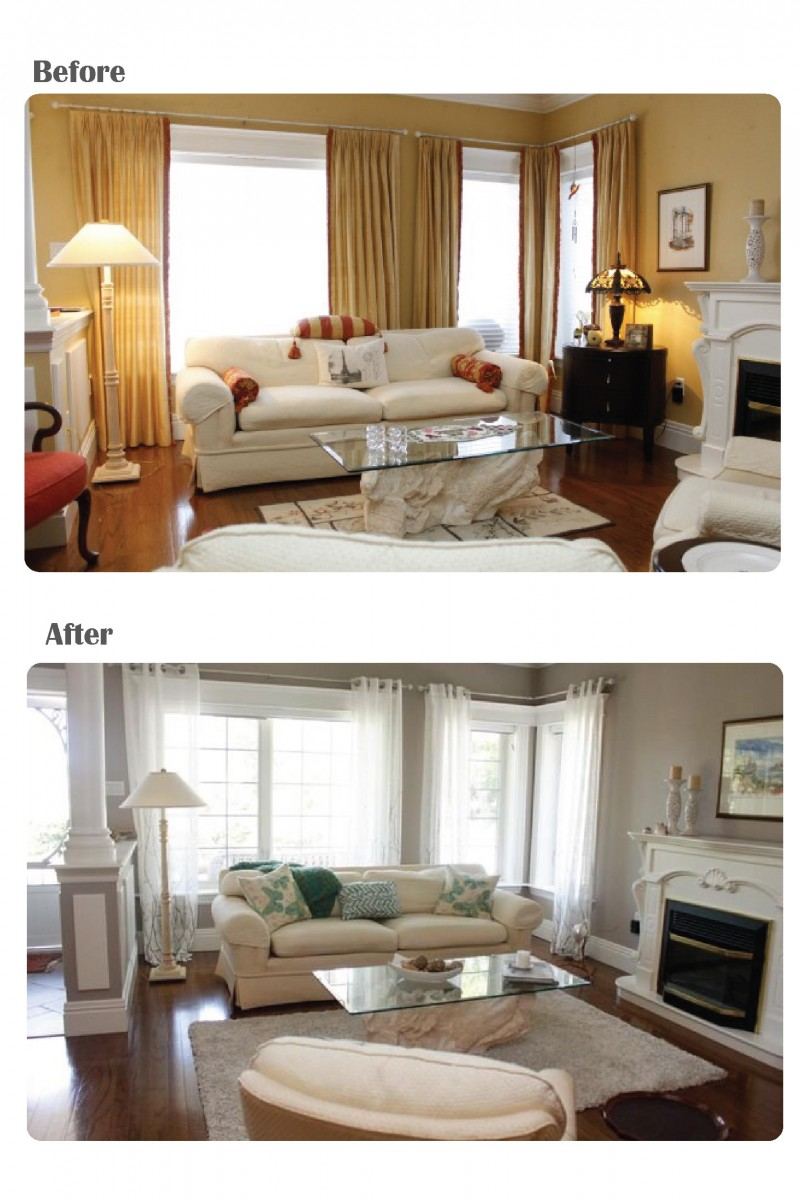 before and after a home staging consult Haifax