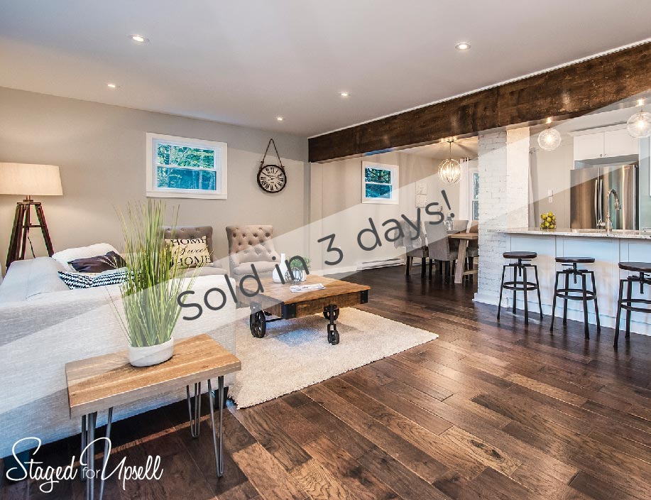 Home staging results in sold in 3 days